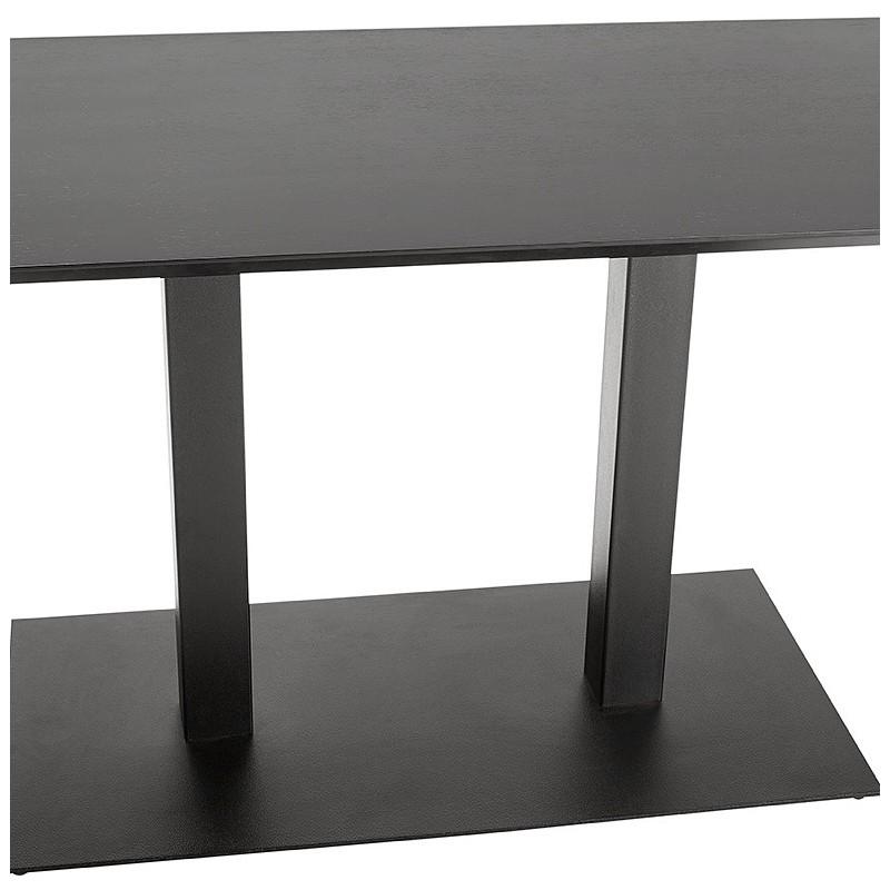 Table à manger design ou table de réunion ANDREA (180x90x75 cm) (noir) - image 39856