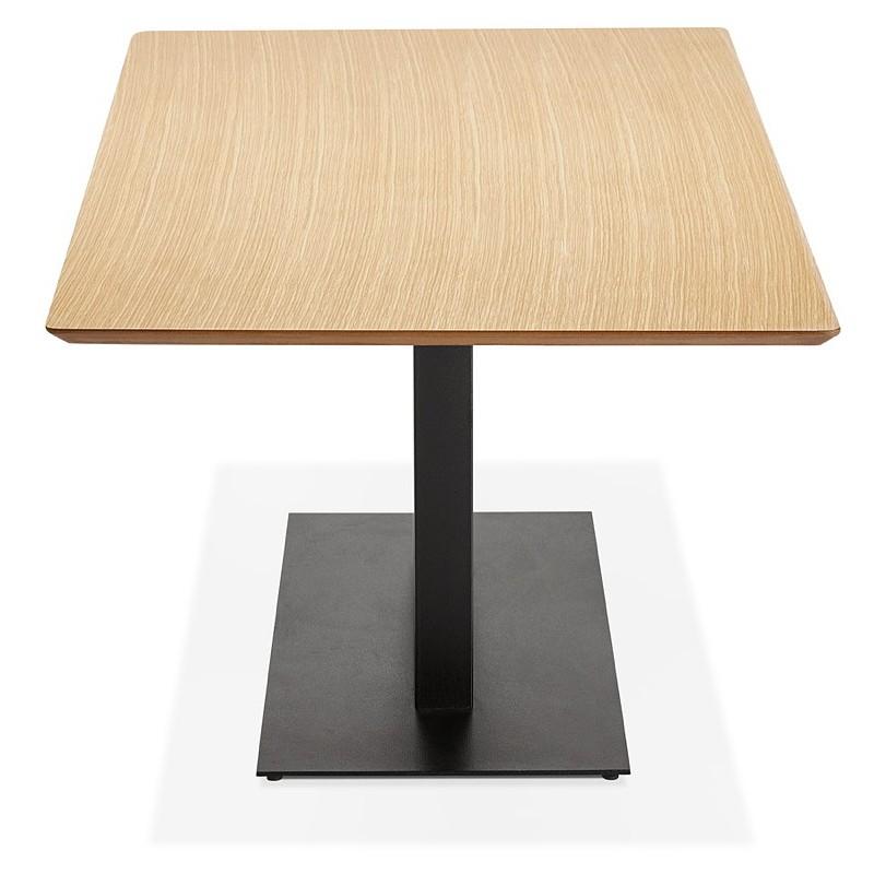 Table à manger design ou table de réunion ANDREA (180x90x75 cm) (finition chêne naturel) - image 39862