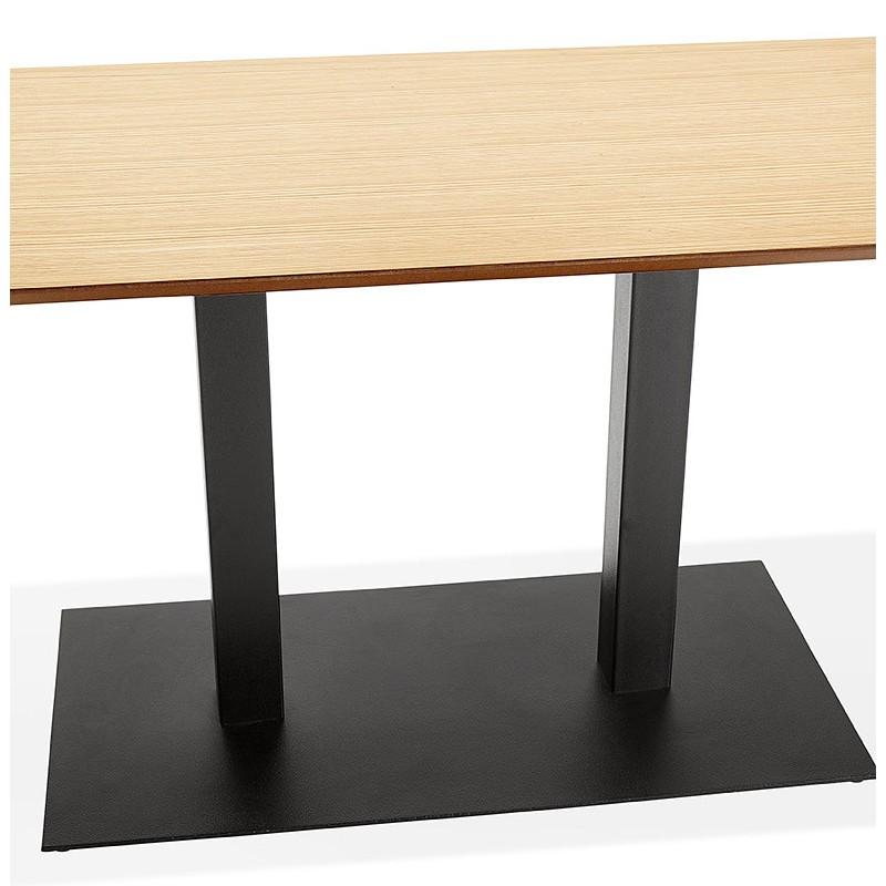 Table à manger design ou table de réunion ANDREA (180x90x75 cm) (finition chêne naturel) - image 39867