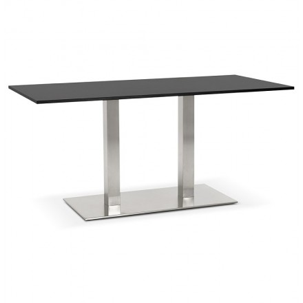 Table design or meeting table SOLÈNE (160 x 80 x 75 cm) (black)