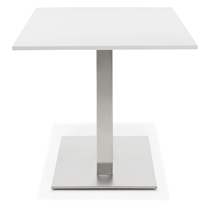 Table à manger design ou table de réunion SOLENE (160x80x75 cm) (blanc) - image 39882