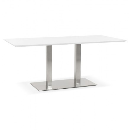 Table design or table of meeting CLAIRE (180 x 90 x 75 cm) (white)