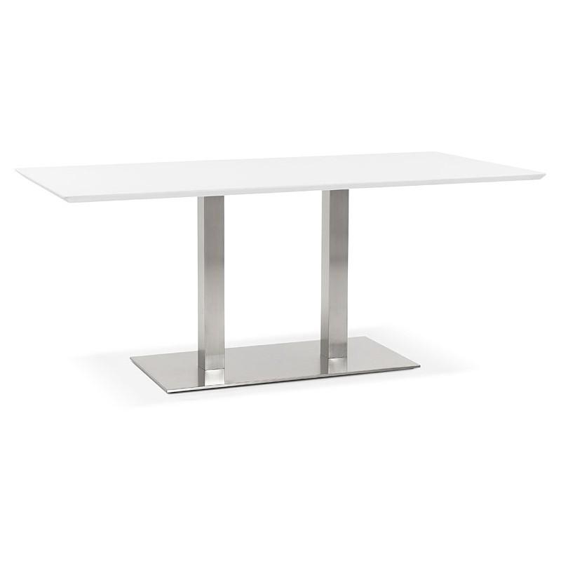 Table à manger design ou table de réunion CLAIRE (180x90x75 cm) (blanc) - image 39921