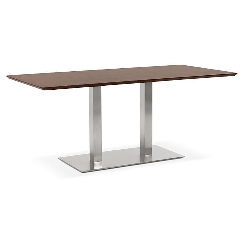 Table à manger design ou table de réunion CLAIRE (180x90x75 cm) (finition noyer)
