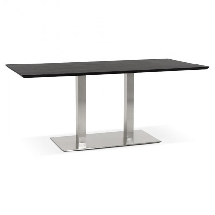 Table design or table of meeting CLAIRE (180 x 90 x 75 cm) (black ash finish)