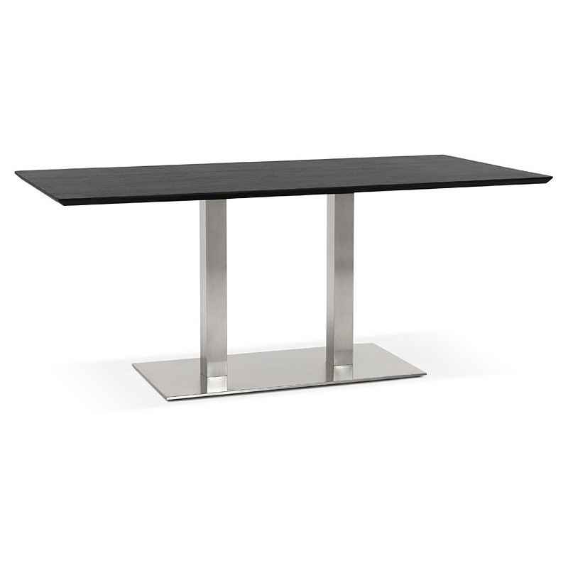 Table design or table of meeting CLAIRE (180 x 90 x 75 cm) (black ash finish) - image 39940