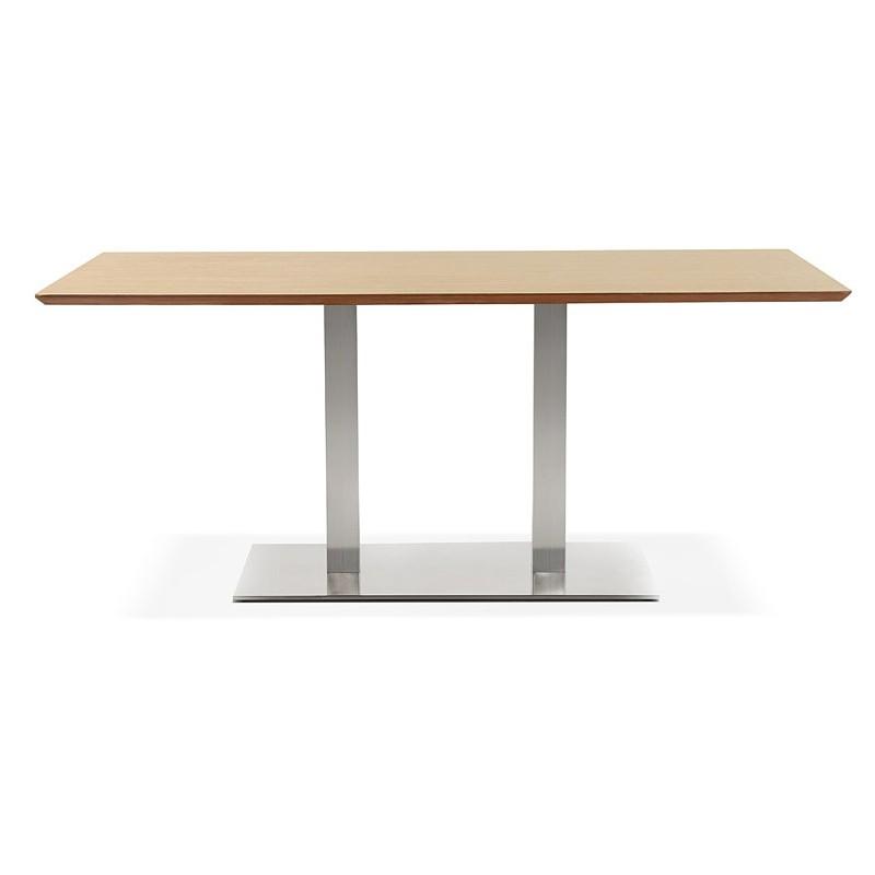 Table à manger design ou table de réunion CLAIRE (180x90x75 cm) (finition chêne naturel) - image 39951