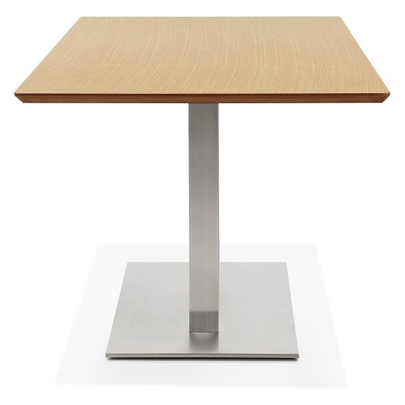 Table à manger design ou table de réunion CLAIRE (180x90x75 cm) (finition chêne naturel) - image 39952