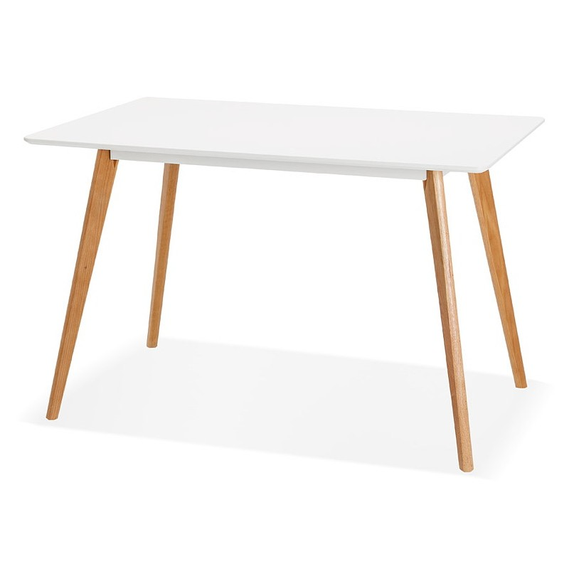 Table à manger design scandinave ou bureau MAYA (120x78x77 cm) (blanc) - image 39970