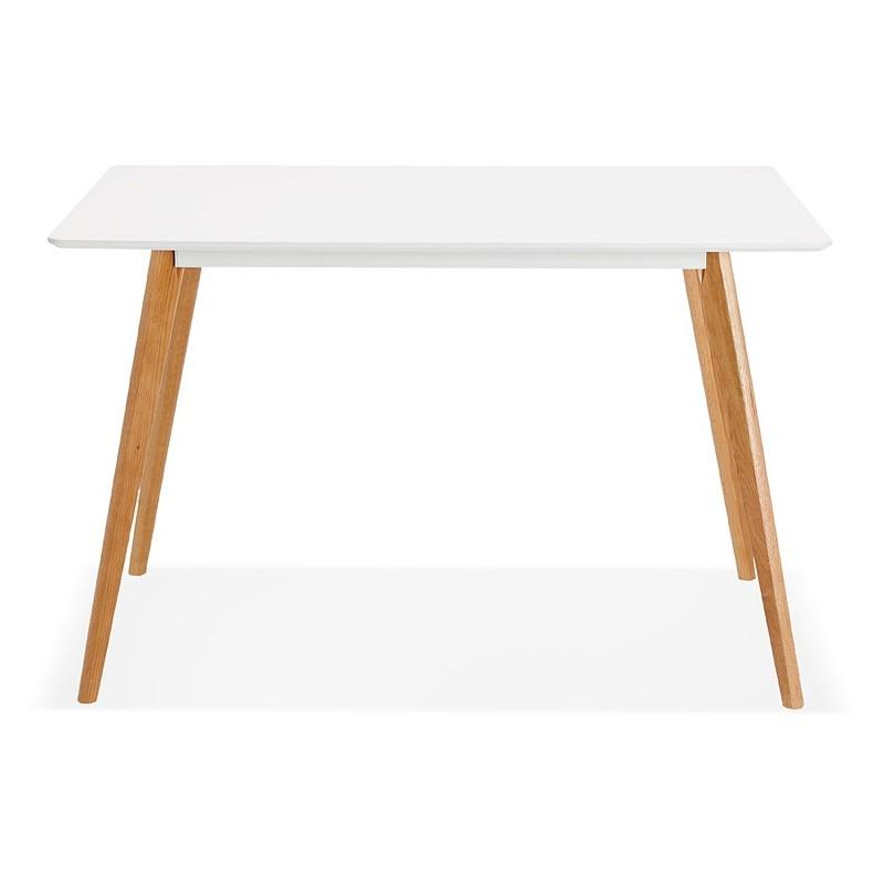 Table à manger design scandinave ou bureau MAYA (120x78x77 cm) (blanc) - image 39971