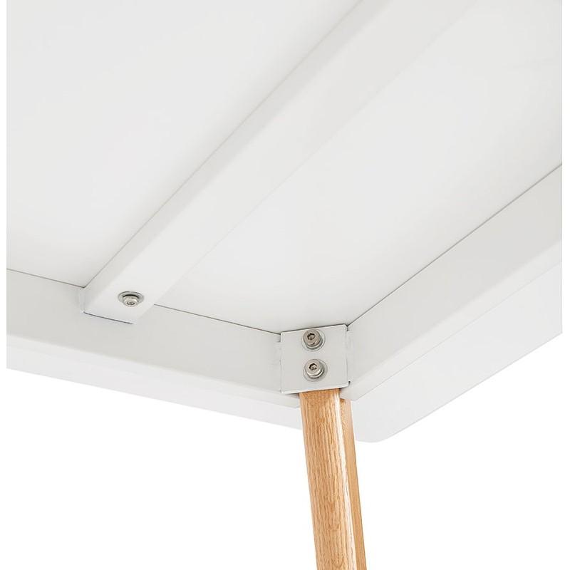 Table à manger design scandinave ou bureau MAYA (120x78x77 cm) (blanc) - image 39976