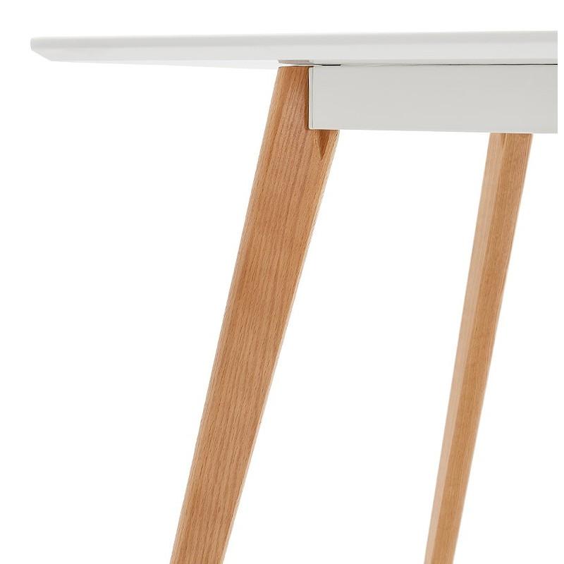 Table à manger design scandinave ou bureau MAYA (120x78x77 cm) (blanc) - image 39979