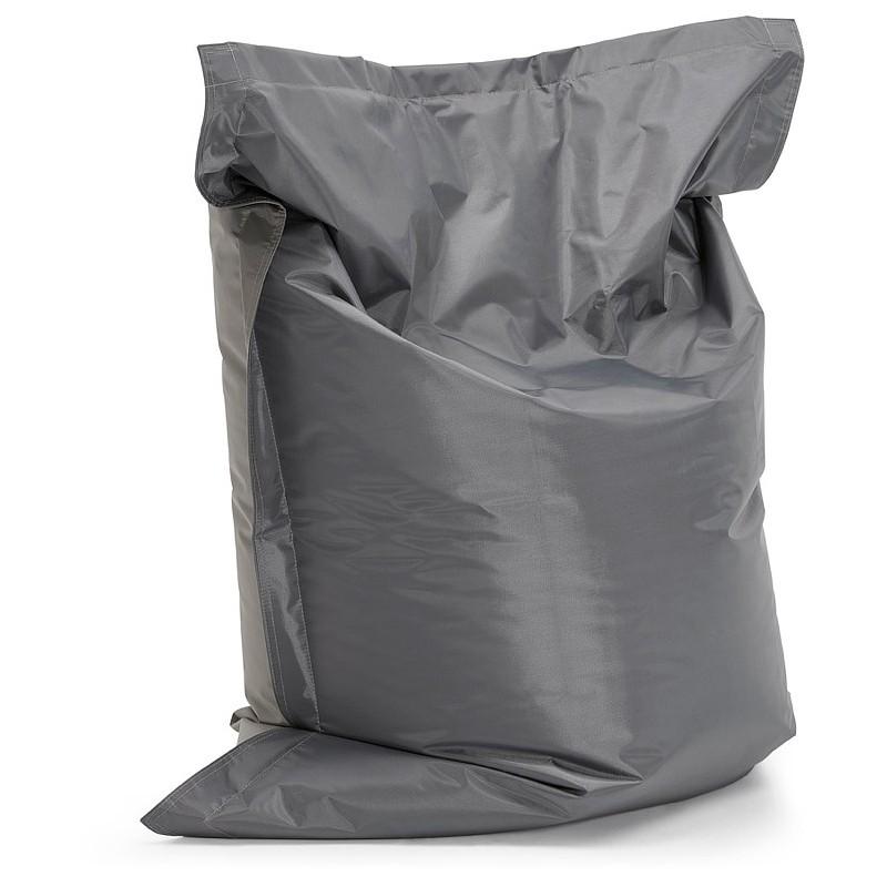 Pouf rectangulaire BUSE en textile (gris foncé) - image 39982