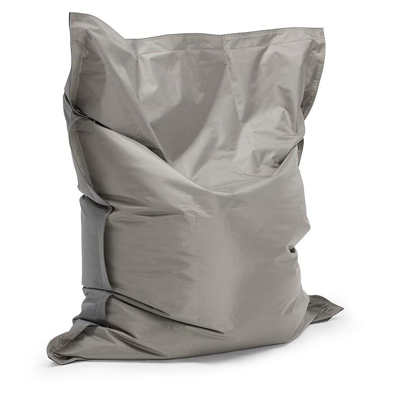 Pouf rectangulaire BUSE en textile (gris foncé) - image 39983