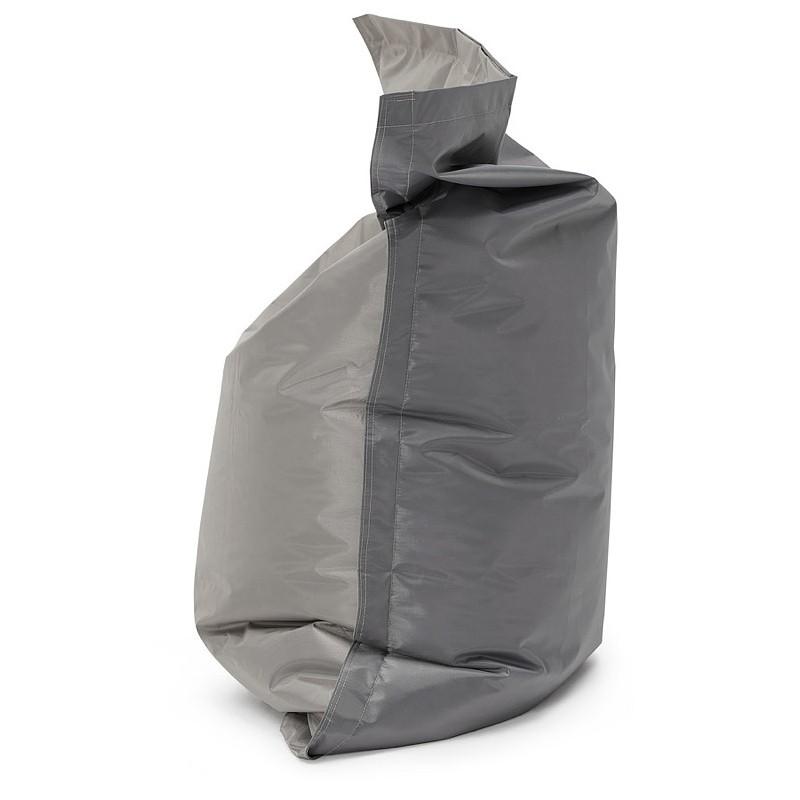 Pouf rectangulaire BUSE en textile (gris foncé) - image 39985