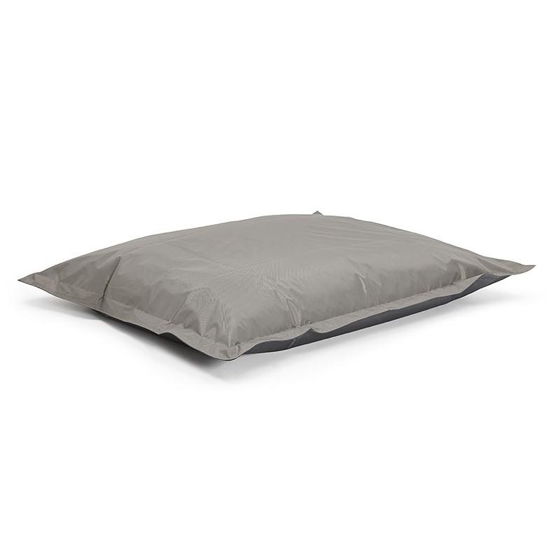 Pouf rectangulaire BUSE en textile (gris foncé) - image 39987