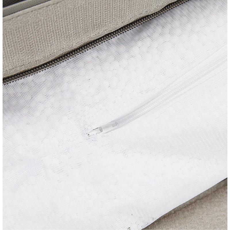 Pouf rectangulaire BUSE en textile (gris foncé) - image 39992
