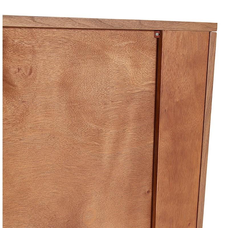 Buffet enfilade design et rétro 2 portes 3 tiroirs MELINA en bois (noyer) - image 40008