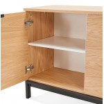 Buffet design row 2 doors 3 drawers AGATHE in wood (oak, natural)