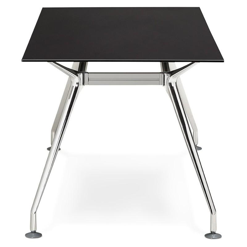 Bureau table de réunion moderne (80x160 cm) AMELIE en verre (noir) - image 40029