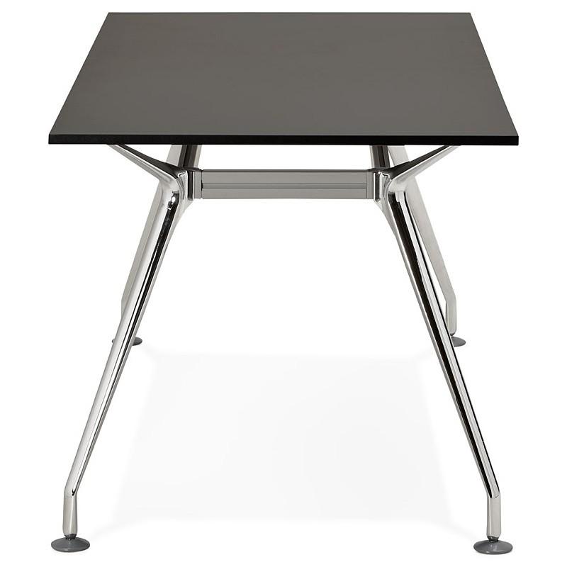 Bureau table de réunion moderne (80x160 cm) AMELIE en bois (noir) - image 40038
