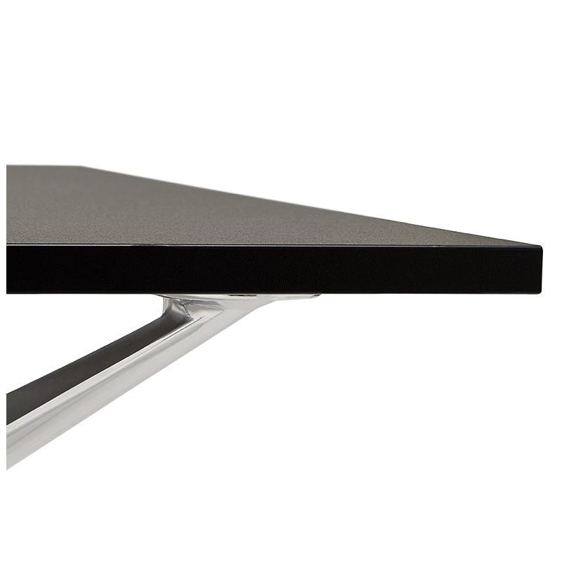 Bureau table de réunion moderne (80x160 cm) AMELIE en bois (noir) - image 40040