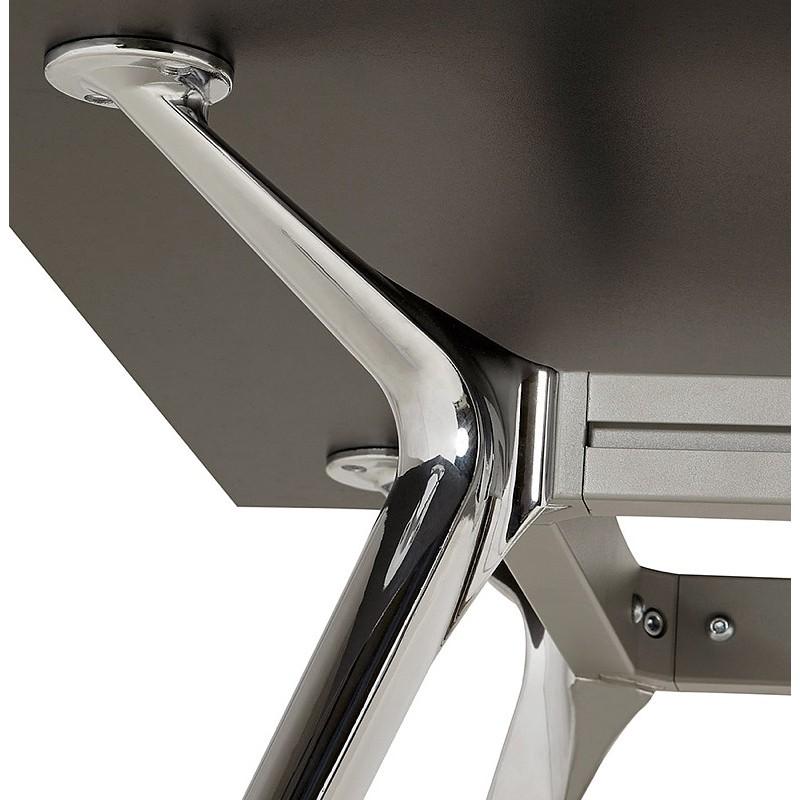 Bureau table de réunion moderne (80x160 cm) AMELIE en bois (noir) - image 40041