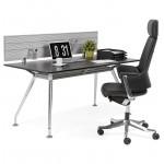 Bureau table de réunion moderne (80x160 cm) AMELIE en bois (noir)