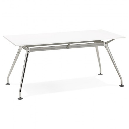 Desk table modern meeting (80 x 160 cm) AMÉLIE wooden (white)