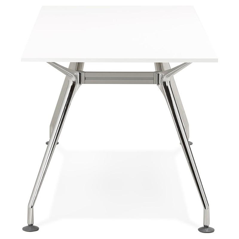 Bureau table de réunion moderne (80x160 cm) AMELIE en bois (blanc) - image 40057