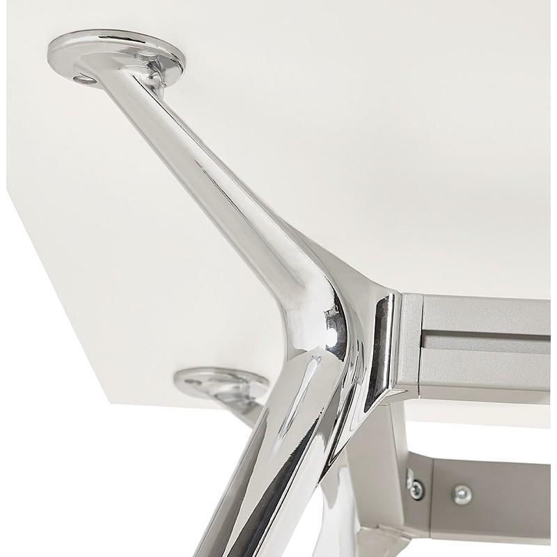 Bureau table de réunion moderne (80x160 cm) AMELIE en bois (blanc) - image 40060
