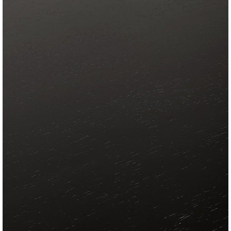 Bureau table de réunion moderne (70x150 cm) NOEMIE en bois plaqué frêne (noir) - image 40070