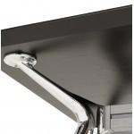 Bureau table de réunion moderne (70x150 cm) NOEMIE en bois plaqué frêne (noir)