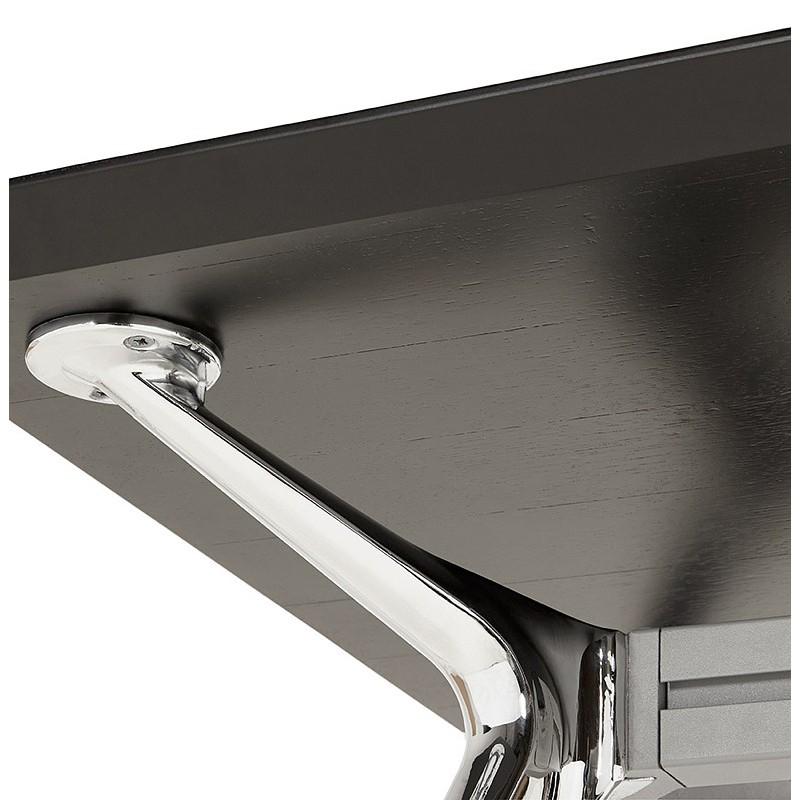 Bureau table de réunion moderne (70x150 cm) NOEMIE en bois plaqué frêne (noir) - image 40072