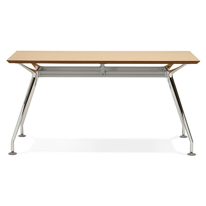 Bureau table de réunion moderne (70x150 cm) NOEMIE en bois plaqué chêne (naturel) - image 40077