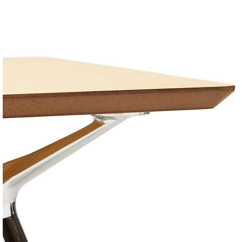 Bureau table de réunion moderne (70x150 cm) NOEMIE en bois plaqué chêne (naturel) - image 40081