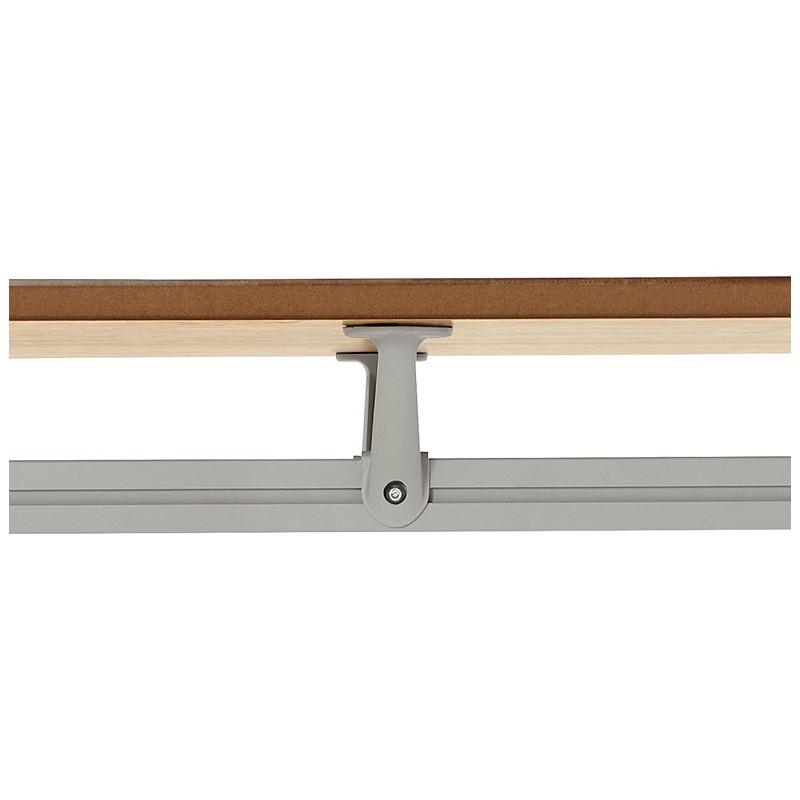 Bureau table de réunion moderne (70x150 cm) NOEMIE en bois plaqué chêne (naturel) - image 40083