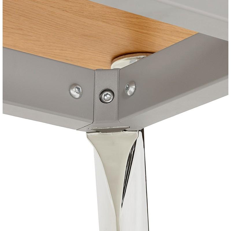 Bureau table de réunion moderne (70x150 cm) NOEMIE en bois plaqué chêne (naturel) - image 40085
