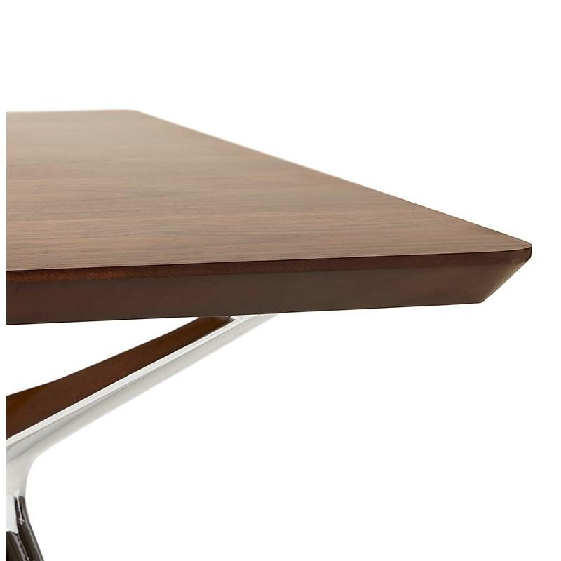 Bureau table de réunion moderne (70x150 cm) NOEMIE en bois plaqué noyer (noyer) - image 40092