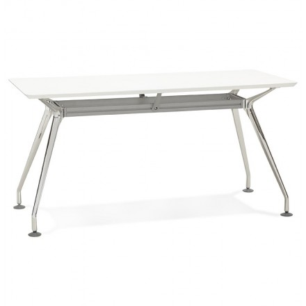 Desk table modern meeting (70 x 150 cm) John wooden (matte white)