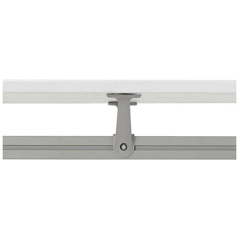 Bureau table de réunion moderne (70x150 cm) NOEMIE en bois (blanc mat) - image 40104