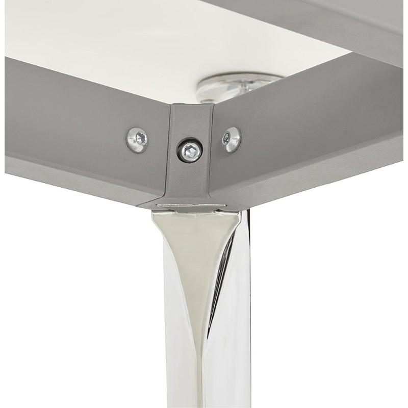Bureau table de réunion moderne (70x150 cm) NOEMIE en bois (blanc mat) - image 40106