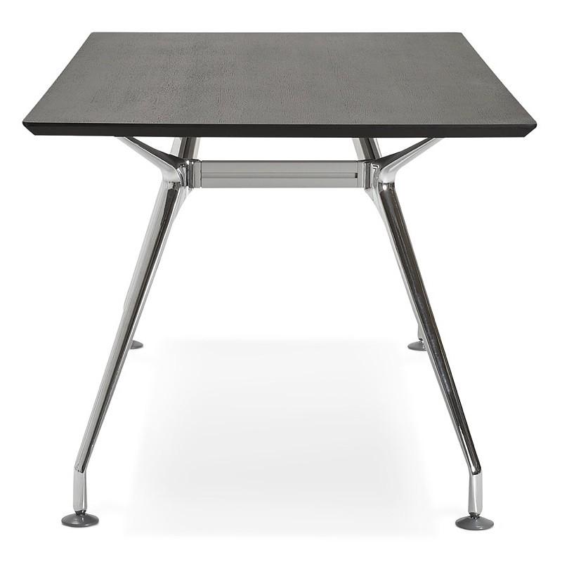 Bureau table de réunion moderne (90x180 cm) LAMA en bois plaqué frêne (noir) - image 40114
