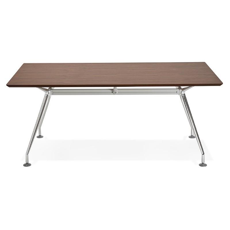 Bureau table de réunion moderne (90x180 cm) LAMA en bois plaqué noyer (noyer) - image 40124
