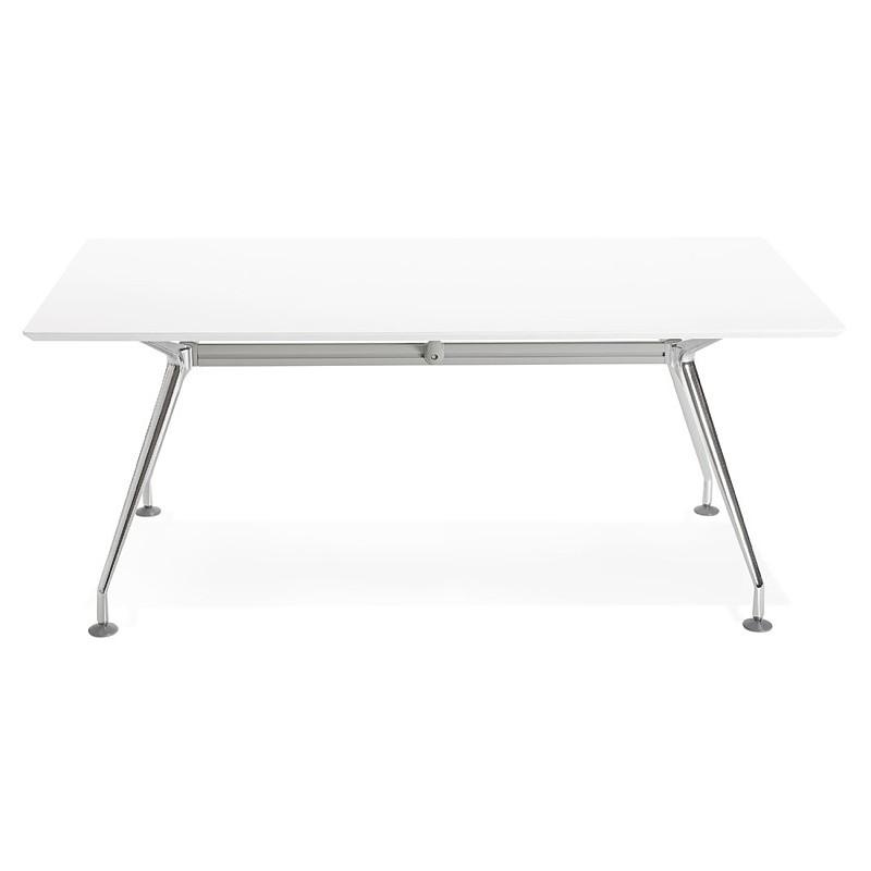 table de 180 ... Office modern meeting (90 x 180 cm) LAMA wooden table (matte white) ...