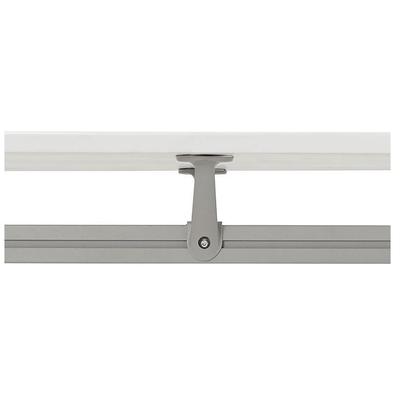 Bureau table de réunion moderne (90x180 cm) LAMA en bois (blanc mat) - image 40148