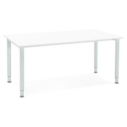 Desk table modern meeting (80 x 160 cm) LORENZO (white) wood