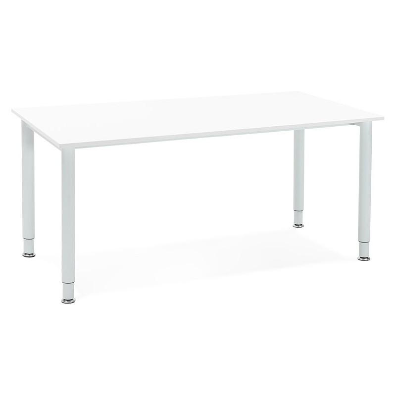 Bureau table de réunion moderne (80x160 cm) LORENZO en bois (blanc) - image 40152