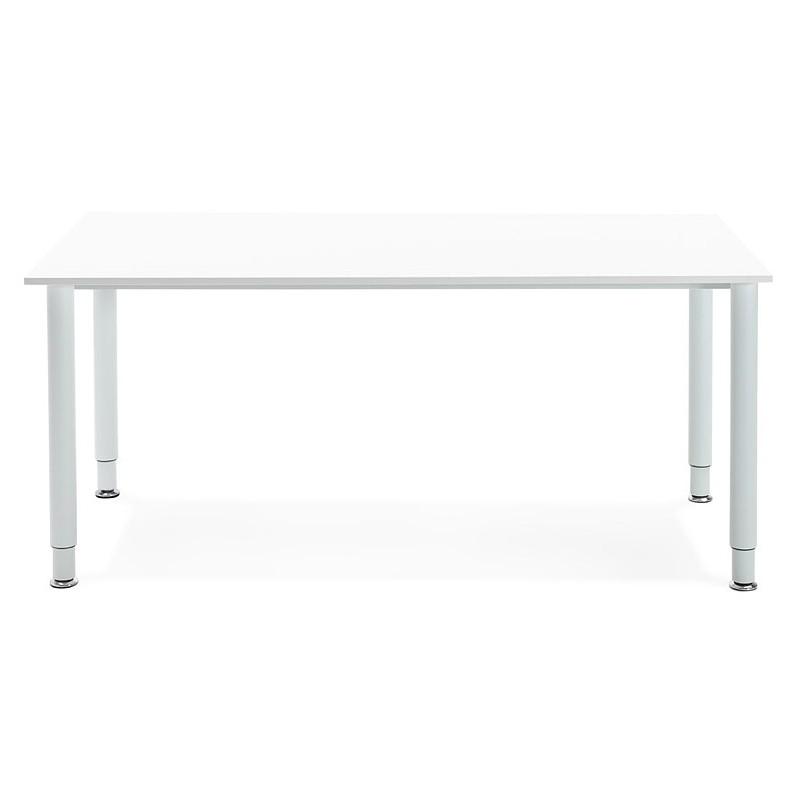Bureau table de réunion moderne (80x160 cm) LORENZO en bois (blanc) - image 40153
