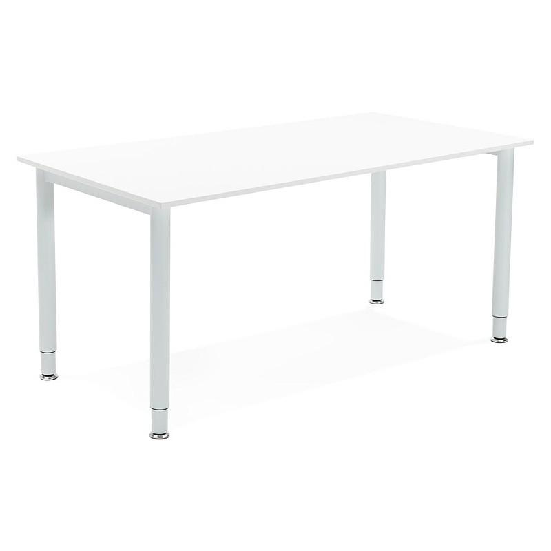 Bureau table de réunion moderne (80x160 cm) LORENZO en bois (blanc) - image 40155